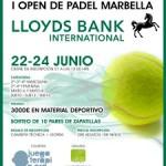 Juegaterapia en el I Open de Padel de Marbella