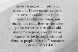 NO JUZGUES
