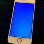 La pantalla azul de la muerte del iPhone