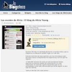 Alicia Young en los Premios 20blogs