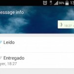 El doble check azul de Whatsapp