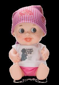 El baby Pelón con el pañuelo diiseñado por Vicky Martín Berrocal